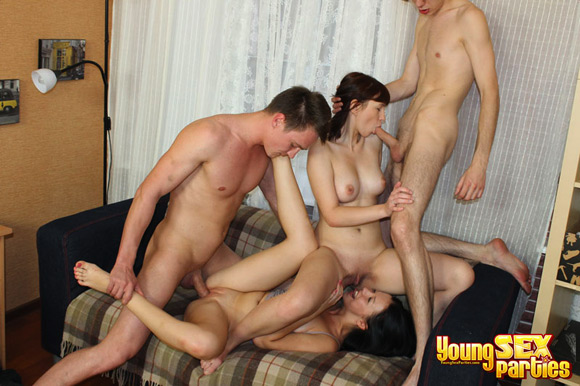 two-beautiful-babes-give-head-and-get-dicks-in-wet-pussies